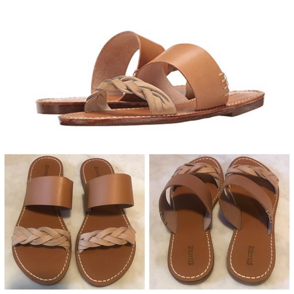 Nwt Soludos Braided Slide Sandal In